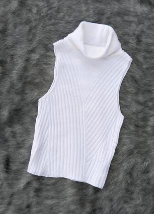 Базовая вязаная кофточка блуза водолазка гольф asos