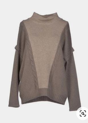 Теплый свитер оверсайз, шерсть/кашемир