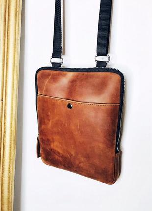 Сумка мужская кожаная сумка барсетка