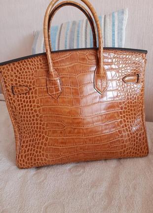 Оригинал кожаной брендовой сумки hermes
