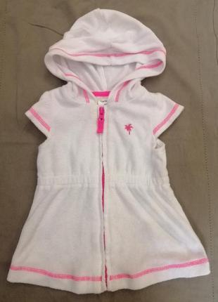 Халат платье махровое пляжное для девочки