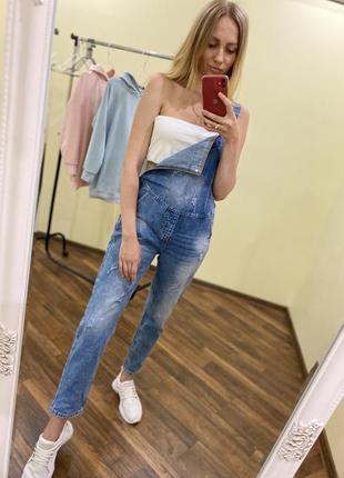 Распродажа!!крутой джинсовый комбез 25-30р