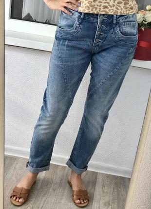 🔥акция 1+1=3🔥классные джинсы на пуговицах boyfriend blue motion