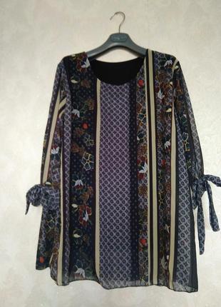Блуза цветы цветочный принт oversize италия
