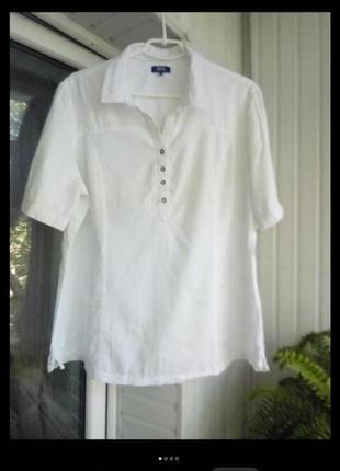Коттоновая блуза большого размера батал