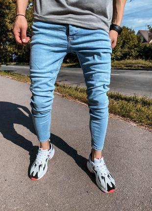 Мужские турецкие джинсы, зауженные, мом (29-36)