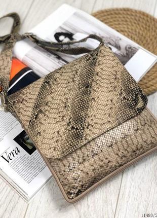 Супер цена! сумка планшет из натуральной кожи рептилия