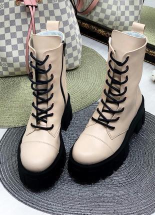 Рр 36-40 натуральная кожа люксовые ботинки