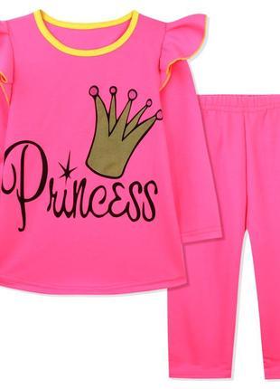 Костюм для девочки, розовый. корона принцессы.