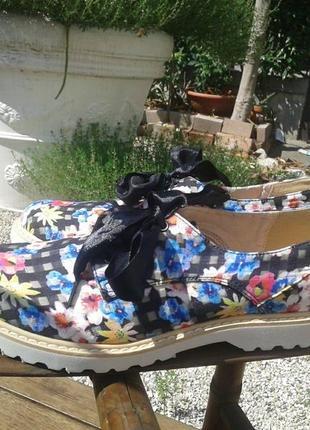 Туфли - мокасины tata, летние, на шнуках