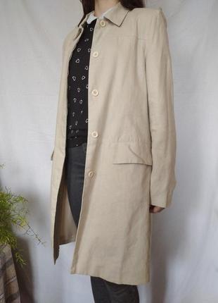 Лляне пальто