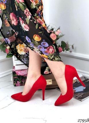 Туфли красные лодочки