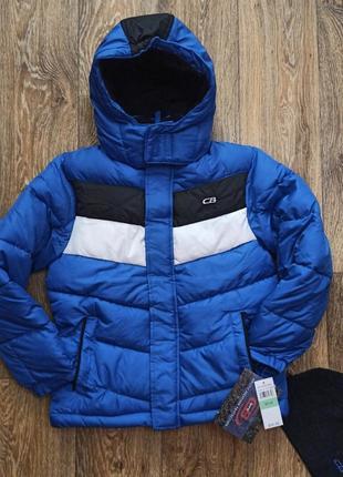 Зимняя теплая куртка фирмы cb sports, америка,размер 8 (8-9 лет).