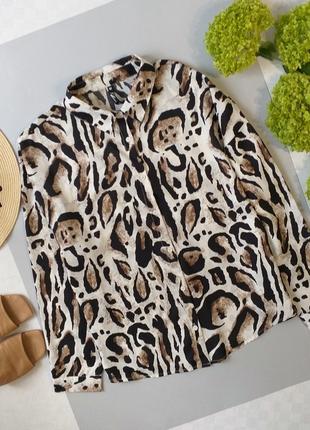 Стильная рубашка оверсайз в анималистический принт леопард  influence