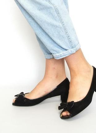 Туфли с открытым носком, peter kaiser, германия. натуральная кожа