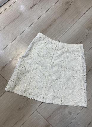 Хлопковая мини юбка hollister