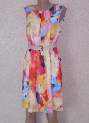 Кольрова сукня\плаття\разноцветное платье