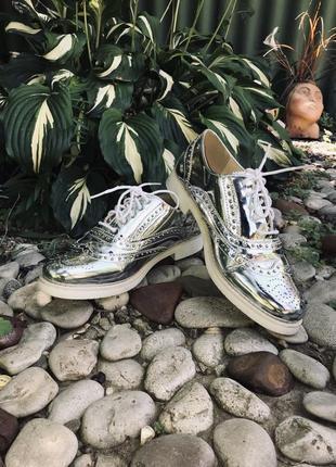 Крутые женские туфли броги оксфорды primadonna collection italy