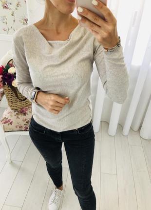Massimo dutti легкий свитер шелк хлопок