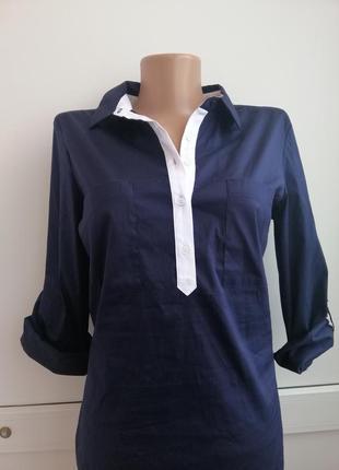 Блуза синяя классика zara