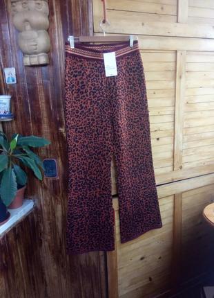 Стильні штани zara кльош кюлоти леопардовий принт
