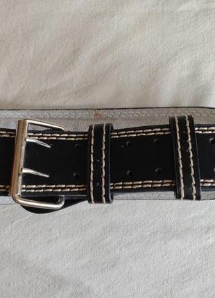 Атлетический пояс everlast leather weight lifting belt. l