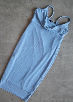 Нежное голубое платье, вечернее голубое платье