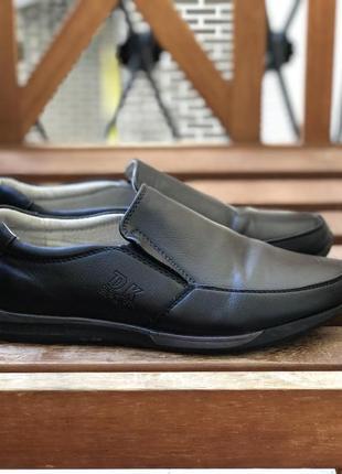 Кожаные туфли на мальчика 38р. в школу
