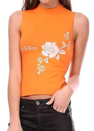 Гольфик, футболка без рукавов с цветочным принтом ladies fashion