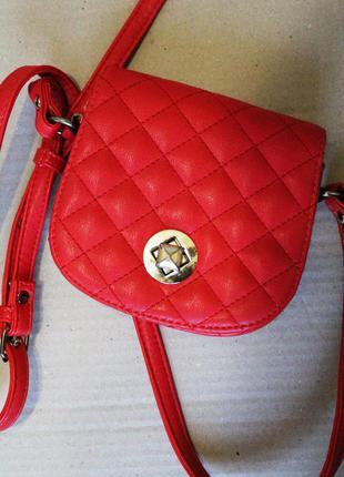 Сумочка crossbody/ сумка через плече / шанель клатч/ красная маленькая сумка кросбоди