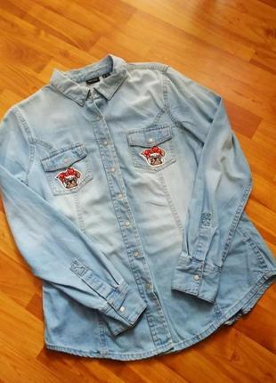 Стильна джинсова сорочка