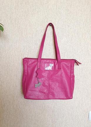 Стильная, качественная сумка radley, оригинал, 100% натуральная кожа,