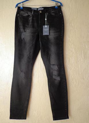 Стильні джинси, штани з потертостями, розмір 42 (50)
