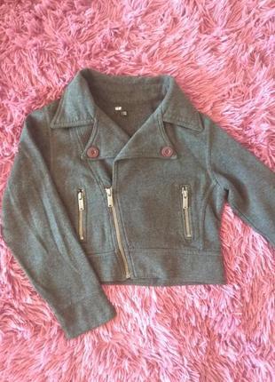 Укороченный пиджак косуха