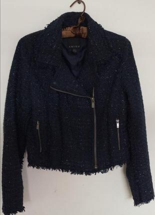 Косуха пальто куртка твид твидовая