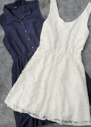Платье с отрезной талией из кружева оттенка айвори cubus