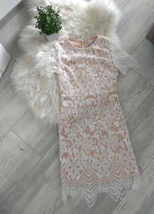 Шикарне кружевне плаття asos