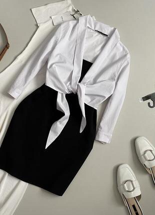 Крутое платье с рубашкой zara
