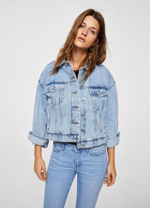 Джинсовая куртка джинсовка mango