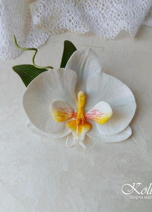Заколка для волосся орхідея