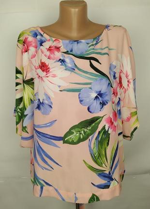 Блуза красивая в принт uk 16/44/xl
