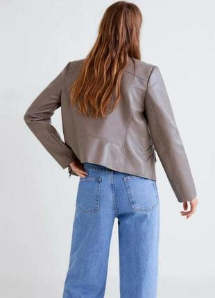 Куртка косуха курточка капучино кожа кожаная кожзам манго