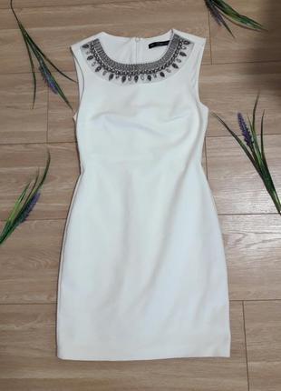 Шикарное белое платье zara trafaluc