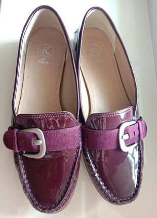 Кожаные туфли бордо лоферы