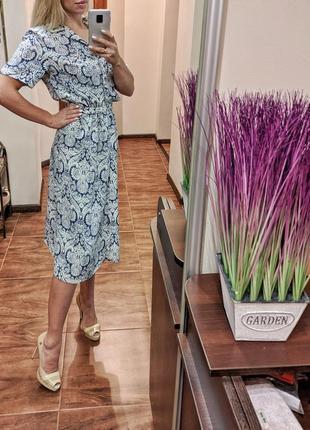 Винтажный костюм винтажное платье юбка и топ на пуговицах
