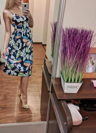 Платье миди на тонких бретелях в ретро стиле винтажное платье gamiss