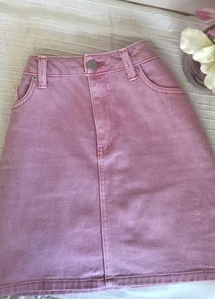 Джинсова міні юбка спідничка