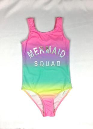 Фирменный сдельный купальник для девочки подростка радуга 🌈 primark