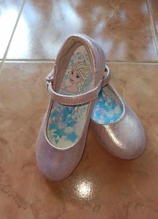 Туфельки,балетки розовые блестящие