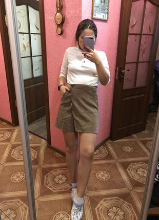 Переделанная юбка select (был 44 размер, стал 38) цвет капучино
